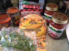 Enchilasagna ingredients