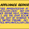 Earn a Free Apprenticeship here at Appliantology by Sharing this Coupon in your Twitter Stream!